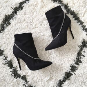 New Look Dicer Asymmetric Zip Detail Ankle Boots